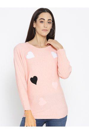 Fort Collins Women Pink Applique Detail Sweater