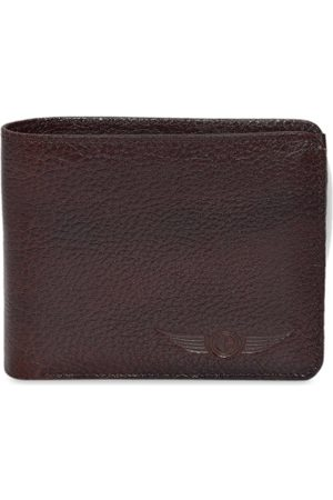 CHRISTOPOLO Men Brown Solid Two Fold Wallet