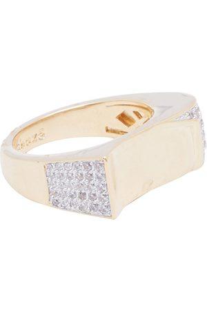 shaze Women Gold-Toned Stone-Studded Classic Finger Ring
