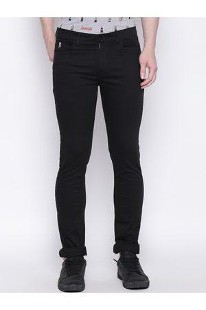 Giordano Men Black Smart Slim Fit Solid Regular Trousers