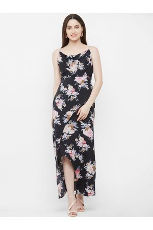MISH Women Black & Pink Printed Maxi Dress