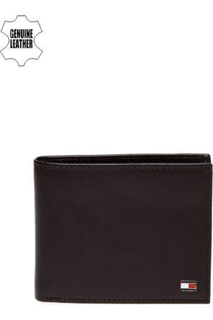 Tommy Hilfiger Men Brown Genuine Leather Two Fold Wallet