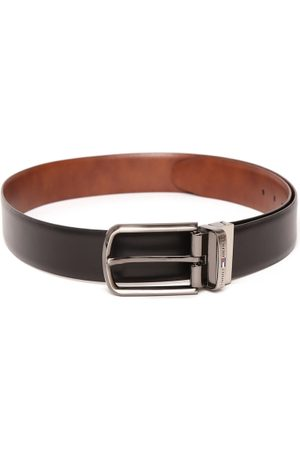 Tommy Hilfiger Men Black Leather Belt