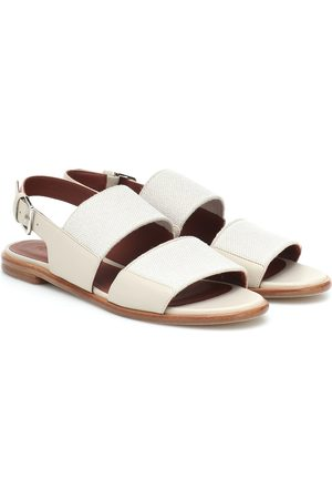 Loro Piana Canvas and leather sandals