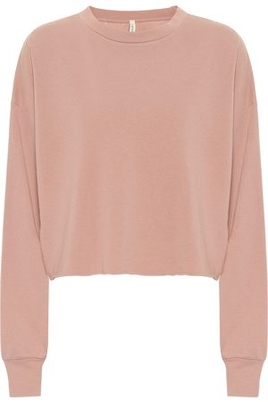 Lanston Cropped cotton-blend sweater