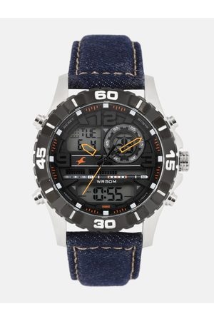Fastrack Men Black Analogue and Digital Watch 38035SL06