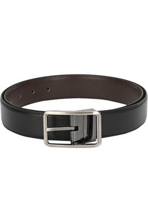 Calvadoss Men Belts - Men Black & Brown Reversible Textured Belt