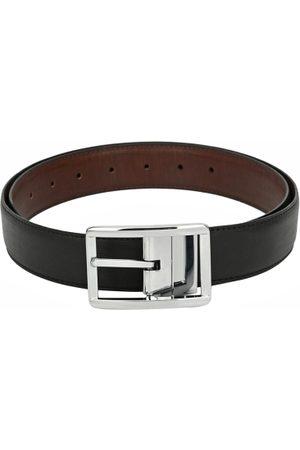 Calvadoss Men Belts - Men Black & Brown Textured Reversible Belt