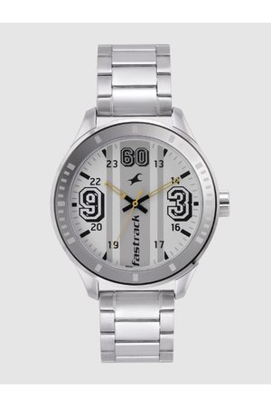 Fastrack Men White & Grey Striped Analogue Watch NL3177SM02_OR