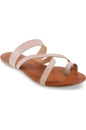 All Things Mochi Women Pink Solid Open Toe Flats