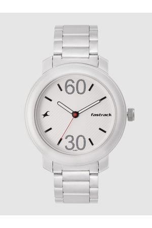 Fastrack Men White Analogue Watch 3222SM01