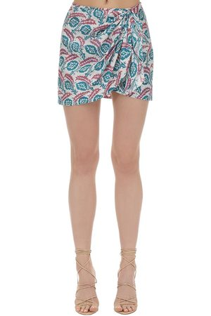 Isabel Marant Women Printed Skirts - Renzia Printed Silk Mini Skirt