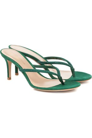 Gianvito Rossi India embellished suede sandals