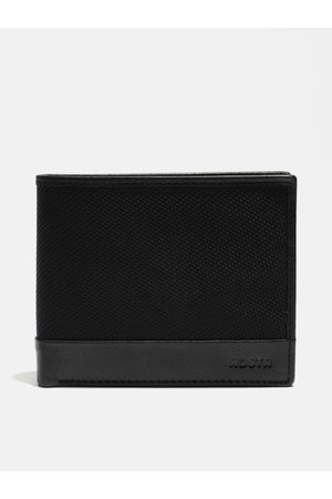 Roadster Men Black Genuine Leather Two Fold Wallet