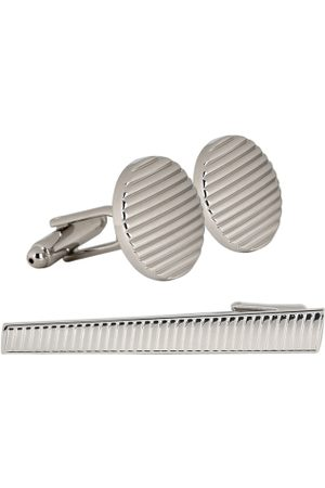 PELUCHE Men Silver-Toned Rhodium Plated Accessory Gift Set