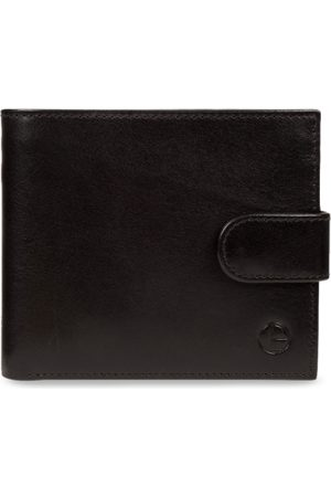 PURE LUXURIES LONDON Men Black Solid Genuine Leather Hooper Wallet
