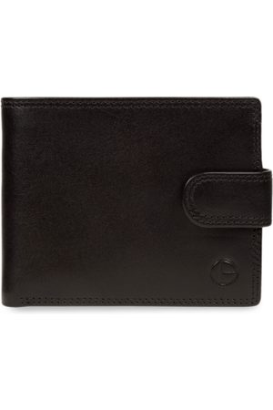 PURE LUXURIES LONDON Men Black Solid Genuine Leather Wilkinson Wallet