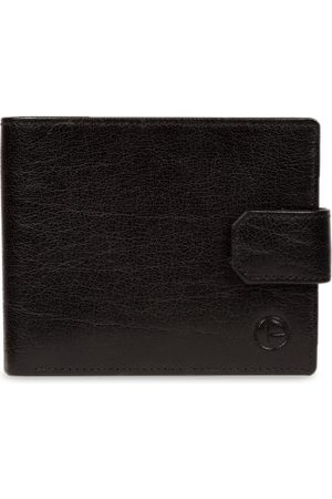 PURE LUXURIES LONDON Men Black Solid Genuine Leather Johnson Wallet