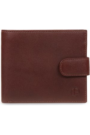 PURE LUXURIES LONDON Men Brown Solid Genuine Leather Hooper Wallet