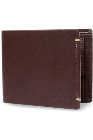 Teakwood Leathers Men Brown Solid Two Fold Wallet