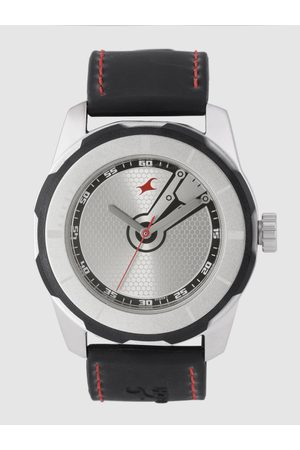 Fastrack Men Silver-Toned Textured Analogue Watch NL3099SP03_OR