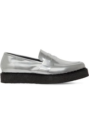 FAQTORY Penny Creeper Metallic Leather Loafers