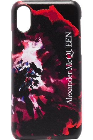 Alexander McQueen Rose-print iPhone XS CSS leather case