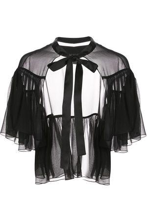 Kiki de Montparnasse Tied-neck cape dress