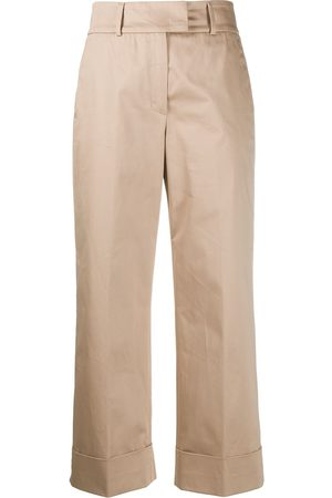PESERICO SIGN Cropped straight leg trousers