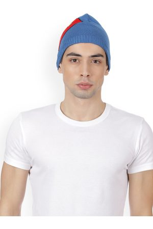 Superman Men Blue & Red Patterned Beanie