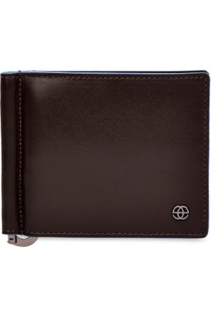 Eske Men Blue Solid Two Fold Wallet