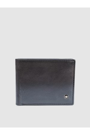 Louis Philippe Men Navy Blue Ombre Two Fold Leather Wallet