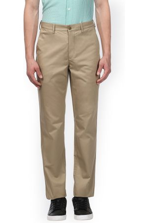 ColorPlus Men Khaki Slim Fit Solid Regular Trousers