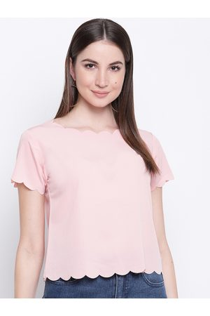 adidas Women Pink Solid Top