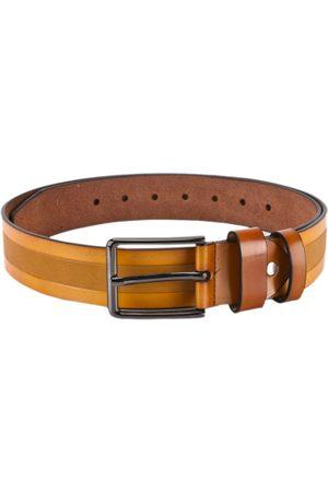 BuckleUp Men Tan Brown Textured Belt
