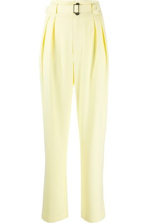 SIMON MILLER Belted high waist tailored trousers