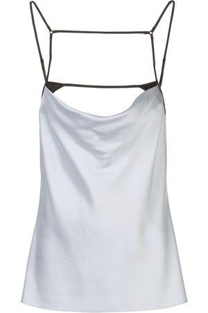 Kiki de Montparnasse Women Vests - Harness silk cami top