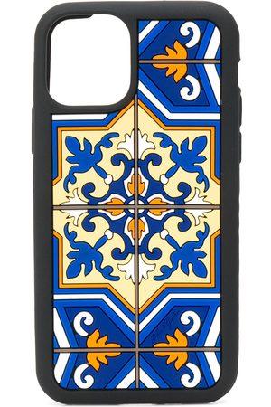Dolce & Gabbana Men Phone Cases - IPhone 11 Pro tile-print case