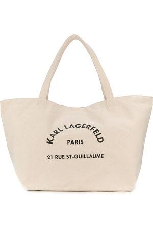 Karl Lagerfeld Women Handbags - Logo-print tote bag