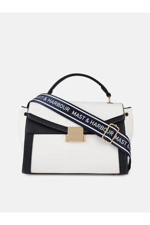 Mast & Harbour White Solid Satchel