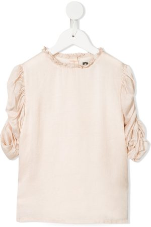 Velveteen Girls Shirts - Dionne rouched sleeves blouse
