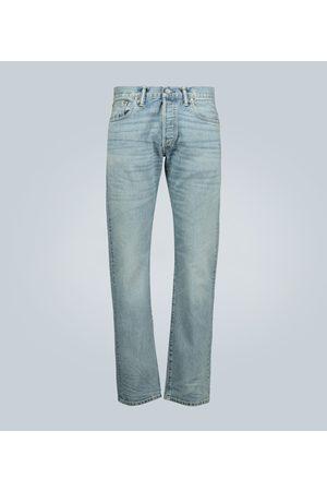 RRL Slim-fit light wash selvedge jeans