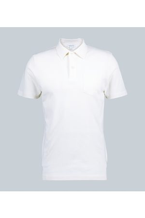 Sunspel Cotton-mesh polo shirt
