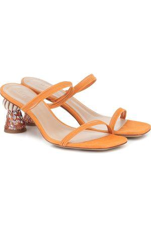 Jacquemus Les Mules Vallena suede sandals