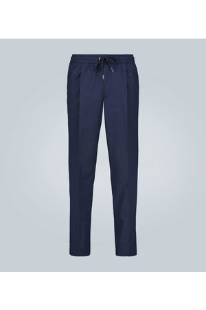 Moncler Pleated stretch-cotton pants
