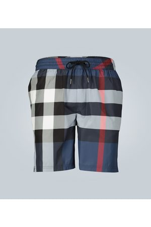 Burberry Check-print swim shorts