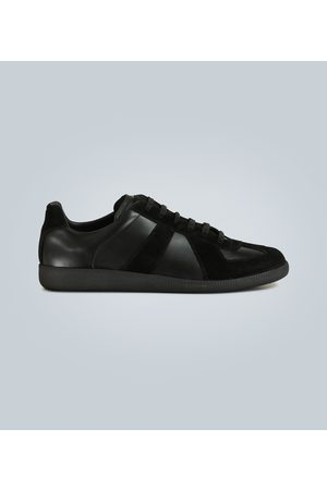 Maison Margiela Men Sneakers - Replica leather and suede sneakers