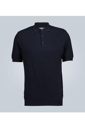 Sunspel Knitted cotton polo shirt