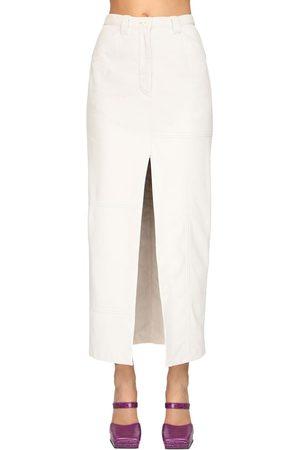 SUNNEI Leather Midi Pencil Skirt