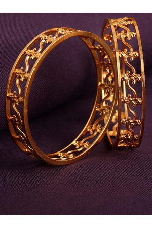 AccessHer Women Set of 2 Gold-Plated Bangles